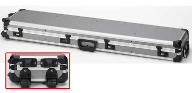 mallette roulettes en aluminium pour fusil racing etuis et valises akah. Black Bedroom Furniture Sets. Home Design Ideas